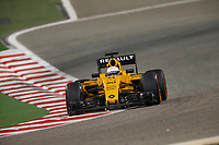MAGNUSSEN Kevin (dan) Renault F1 RS.16 driver Renault Sport F1 team action   during 2016 Formula 1 FIA world championship, Bahrain Grand Prix, at Sakhir from April 1 to 3  - Photo Frederic Le Floc'h / DPPI