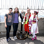 DNCE Visits The Empire State Building
