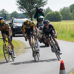 WIJSTER (NED) June 20: <br /> CYCLING <br /> Dutch Nationals Road Men up and around the Col du VAM<br /> Martijn Tusveld (Netherlands / Team DSM)<br /> Mike Teunissen (Netherlands / Team Jumbo - Visma)<br /> Timo Roosen (Netherlands / Team Jumbo - Visma)
