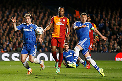 Chelsea Defender John Terry (ENG) shoots - Photo mandatory by-line: Rogan Thomson/JMP - 18/03/2014 - SPORT - FOOTBALL - Stamford Bridge, London - Chelsea v Galatasaray - UEFA Champions League Round of 16 Second leg.
