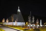 Ytre Herøy Church by night, Fosnavåg, Norway | Ytre Herøy Kirke i natten, Fosnavåg, Norge