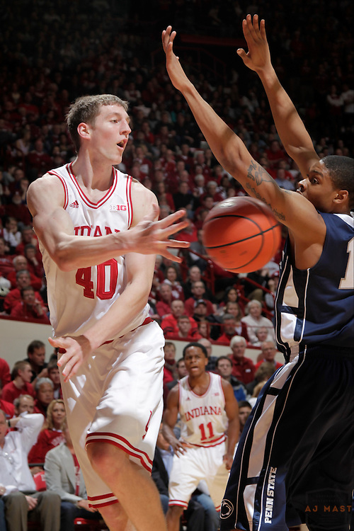 23 January 2013: Indiana forward Cody Zeller (40) as the Indiana Hoosiers played the Penn State Nittnay Lions in a college basketball game in Bloomington, Ind.