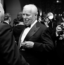 CHARLIE CHAPLIN at a party following the UK premier of 'A Countess from Hong Kong' held at The Savoy Hotel, London on 5th January 1967.
