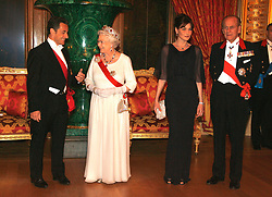 Buckingham Palace has announced Prince Philip, The Duke of Edinburgh, has passed away age 99 - FILE - French President Nicolas Sarkozy, Queen Elizabeth II, Carla Bruni-Sarkozy and the Duke of Edinburgh arrive at the state banquet at Windsor Castel, in Windsor, UK on March 26, 2008. Photo by Ludovic/Pool/ABACAPRESS.COM