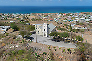 Aerial view of St. Mark's Church, St. John, Barbados