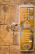 Brass entry buzzer, Florence, Tuscany, Italy