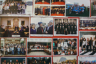 Images of visitors to both the Samatya kilisesi and the Christian community in Istanbul by various international guests, including US president Obama, in the entrance hall of the church in Istanbul.