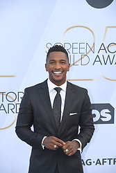 January 27, 2019 - Los Angeles, California, U.S - SCOTT EVANS during silver carpet arrivals for the 25th Annual Screen Actors Guild Awards, held at The Shrine Expo Hall. (Credit Image: © Kevin Sullivan via ZUMA Wire)