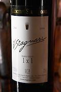 Cabernet Sauvignon H Stagnari 1x1 1 x 1 Primer Vinedo 2004 from a vineyard with high planting density 10000 vines per hectare. Bodega Vinos Finos H Stagnari Winery, La Puebla, La Paz, Canelones, Montevideo, Uruguay, South America
