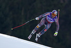 12-02-2011 SKIEN: FIS ALPINE WORLD CHAMPIONSSHIP: GARMISCH PARTENKIRCHEN<br /> Erik Guay (CAN) the race winner takes to the air competing in the men's downhill race on the Kandahar race piste<br /> **NETHERLANDS ONLY**<br /> ©2011-WWW.FOTOHOOGENDOORN.NL/EXPA/ Michel Gunn