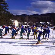 Nordic Ski Race in Jackson, New Hampshire