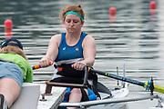 Poznan, POLAND, 21st June 2019, Friday, Morning Heats, USA., PR1 W1X, SMITH Hallie, FISA World Rowing Cup II, Malta Lake Course, © Peter SPURRIER/Intersport Images,<br /> <br /> 08:35:07