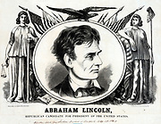 Republican candidate Abraham Lincoln for President of the United States of America 1860.