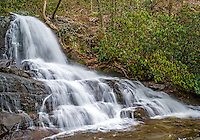 View of the Laurel Falls in the Smoky Mountains National Park in Tennessee