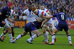 February 23, 2019 - Saint Denis, Seine Saint Denis, France - The Lock of French Team FELIX LAMBEY in action during the Guinness Six Nations Rugby tournament between France and Scotland at the Stade de France - St Denis - France..France won 27-10 (Credit Image: © Pierre Stevenin/ZUMA Wire)