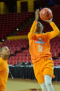 March 17, 2016: Tennessee Lady Vols guard Meme Jackson gets a layup (10) during the first practice day of the 2016 NCAA Division I Women's Basketball Championship first round in Tempe, Ariz.