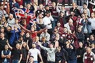 Hearts fans before the Cinch SPFL Premiership match between Heart of Midlothian and Hibernian at Tynecastle Park, Edinburgh, Scotland on 12 September 2021.