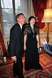 JACQUES BABANDO and SHARLEEN SPITERI at a dinner hosted by HRH Prince Robert of Luxembourg in celebration of the 75th anniversary of the acquisition of Chateau Haut-Brion by his great-grandfather Clarence Dillon held at Lancaster House, London on 10th June 2010.