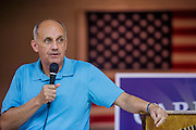 02 AUGUST 2012 - PHOENIX, AZ:  Dr. RICHARD CARMONA speaks to a veterans' town hall meeting during a campaign stop at an American Legion Hall in Phoenix Thursday. Carmona, the former US Surgeon General under President George W. Bush, is running for the US Senate as a Democrat. Carmona's personal story is an important part of his campaign. He dropped out of high school to join the US Army. He applied for Special Forces and was turned down because he didn't have a high school diploma, he got his GED, reapplied and was accepted into Special Forces. He served in Vietnam as a combat medic. After he was discharged, he went back to college, became a R.N., went to medical school and became a surgeon, became a police officer and member of the SWAT Team in Tucson, AZ. He became the surgeon general in 2002 and returned to Tucson after his term as surgeon general.          PHOTO BY JACK KURTZ