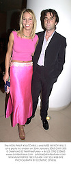 The HON.PHILIP KNATCHBULL and MISS WENDY WILLS, at a party in London on 25th January 2002.OWX 300