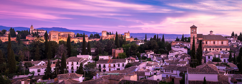 Alhambra and Albaizin from Sacromonte.