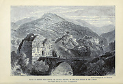 Range of Hermon Near Banias (or Caesarea Philippi) at the main source of the Jordan The probable scene of our Lord's Transfiguration From the book 'Those holy fields : Palestine, illustrated by pen and pencil' by Manning, Samuel, 1822-1881; Religious Tract Society (Great Britain) Published in 1873