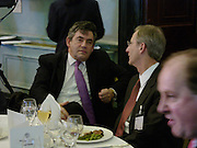 Gordon Brown and Robert Olsen, Political Studies Association Awards 2004. Institute of Directors, Pall Mall. London SW1. 30 November 2004.  ONE TIME USE ONLY - DO NOT ARCHIVE  © Copyright Photograph by Dafydd Jones 66 Stockwell Park Rd. London SW9 0DA Tel 020 7733 0108 www.dafjones.com