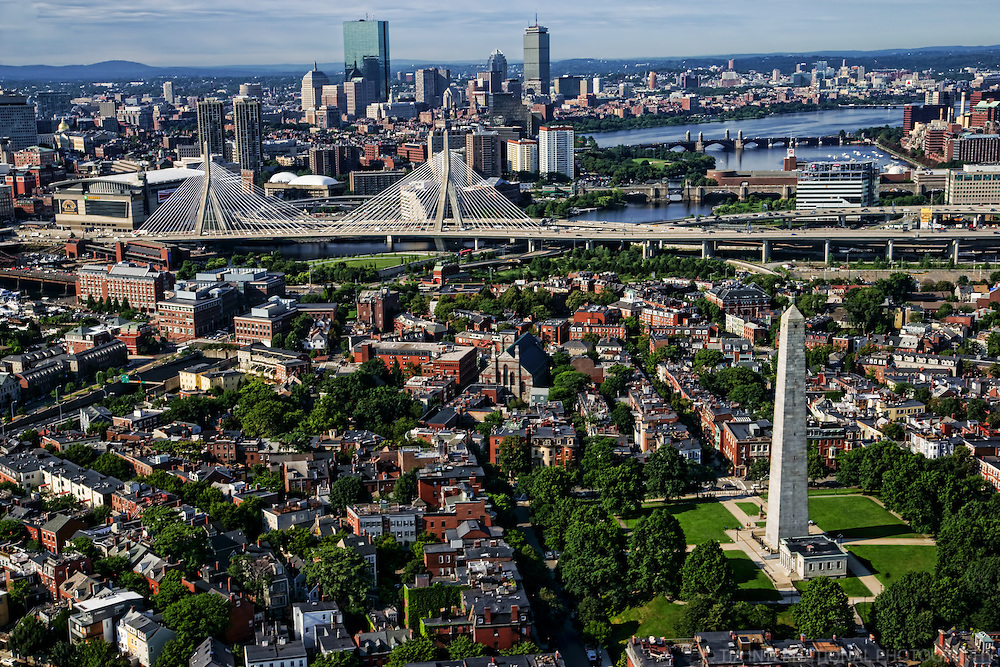 Bunker Hill Monument & Zakim Memorial Bridge, Charlestown