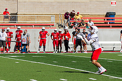 NORMAL, IL - August 14:  during a college football pre-season scrimmage of the  ISU (Illinois State University) Redbirds August 14 2021 at Hancock Stadium in Normal, IL. (Photo by Alan Look)