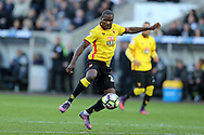 Odion Ighalo of Watford in action. Premier league match, Swansea city v Watford at the Liberty Stadium in Swansea, South Wales on Saturday 22nd October 2016.<br /> pic by  Andrew Orchard, Andrew Orchard sports photography.