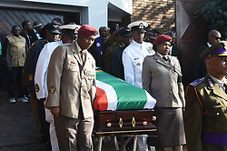 (Paul bearers). Special Official Funeral service for the late Winnie Madikizela-Mandela at Orlando Stadium in Soweto, Gauteng Province. South Africa. 14/04/2018. Siyabulela Duda