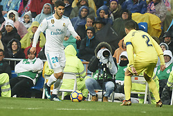 January 13, 2018 - Madrid, Spain - Marco Asensio (midfielder; Real Madrid) in action during La Liga match between Real Madrid and Villareal CF at Santiago Bernabeu on January 13, 2018 in Madrid (Credit Image: © Jack Abuin via ZUMA Wire)