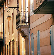 Architecture of a street in Avignon, France