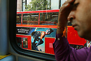 England, London: on a bus in Oxford Street