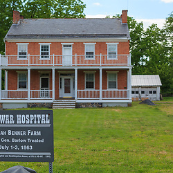 Gettysburg, PA, USA / March 23, 2012: Josiah Benner Farm was used as a field hospital during the Battle of Gettysburg.