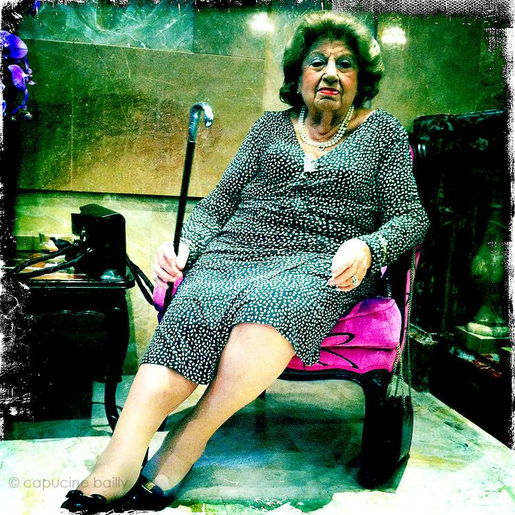 Paris, France. A woman at a Bat Mitzvah.