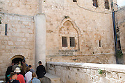 Israel, Jerusalem, Mount Zion, Entrance to the Room of the Last Supper (Coenaculum)