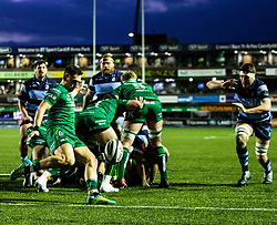 James Mitchell of Connacht clears<br /> <br /> Photographer Simon King/Replay Images<br /> <br /> Guinness PRO14 Round 14 - Cardiff Blues v Connacht - Saturday 26th January 2019 - Cardiff Arms Park - Cardiff<br /> <br /> World Copyright © Replay Images . All rights reserved. info@replayimages.co.uk - http://replayimages.co.uk