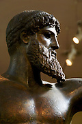 Greece, Athens, National Archaeology Museum. Statue of Poseidon