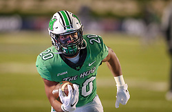 Dec 18, 2020; Huntington, West Virginia, USA; Marshall Thundering Herd running back Brenden Knox (20) warms up before their game against the UAB Blazers at Joan C. Edwards Stadium. Mandatory Credit: Ben Queen-USA TODAY Sports