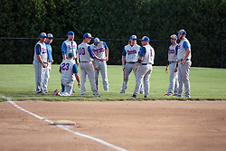 27 June 2014:  Team shot - Bloomington Stix during a Mens Professional Fastpitch Softball game between the Central Illinois Knights from Villa Grove and the Bloomington Stix from Bloomington, played at O'Neil Park in Bloomington, Illinois