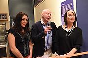 POLLY MCGETTIGAN;; JEN KELLY; CATHY O'CONNOR, The Arthur Cox Irish Fashion Showcase 2015,  Irish based designers chosen to be part of this year's Arthur Cox Irish Fashion Showcases The Mall Galleries, London. 13 May 2015.