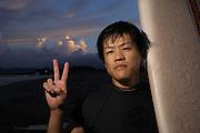 portrait - japanese surfer