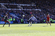 Sheffield Wednesday striker Gary Hooper (14) scores the third goal 3-0 during the Sky Bet Championship match between Sheffield Wednesday and Cardiff City at Hillsborough, Sheffield, England on 30 April 2016. Photo by Phil Duncan.