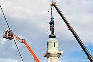 Friday, May 19, 2017, New Orleans, LA,  The Confederate statue of General Robert E. Lee  being removed from Lee Circle . It was the last of four Confederate-era monuments to be removed after a proposal by Mayor Mitch Landrieu to remove the monuments was approved by the city council in 2015.