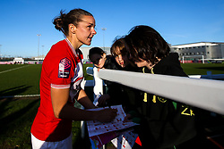 Loren Dykes of Bristol City signs autographs for fans - Mandatory by-line: Robbie Stephenson/JMP - 24/03/2019 - FOOTBALL - Stoke Gifford Stadium - Bristol, England - Bristol City Women v Everton Ladies - FA Women's Super League