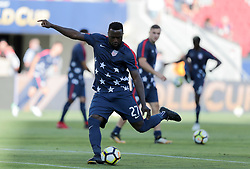July 26, 2017 - Santa Clara, CA, USA - Santa Clara, CA - Wednesday July 26, 2017: Jozy Altidore during the 2017 Gold Cup Final Championship match between the men's national teams of the United States (USA) and Jamaica (JAM) at Levi's Stadium. (Credit Image: © John Dorton/ISIPhotos via ZUMA Wire)
