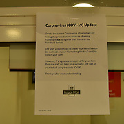 During the coronavirus in UK lockdown Royal mail collect point remind open at Church Road ,on 28 March 2020 London.