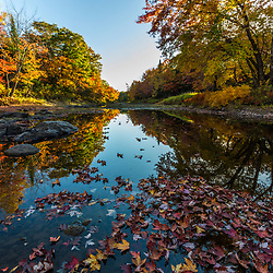 Mud Brook, a tributary of the East Branch of the Penobscot River in Maine's Northern Forest. Fall.