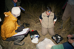 Estela & Greg Preparing To Work On Captured Animal